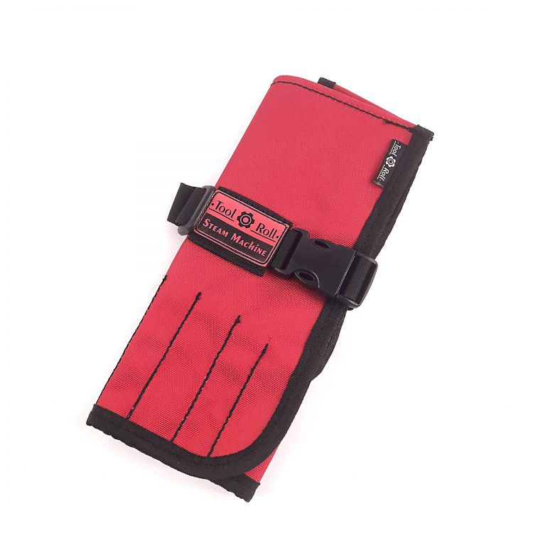 Сумка-скрутка для инструмента ToolRollS40 красного цвета