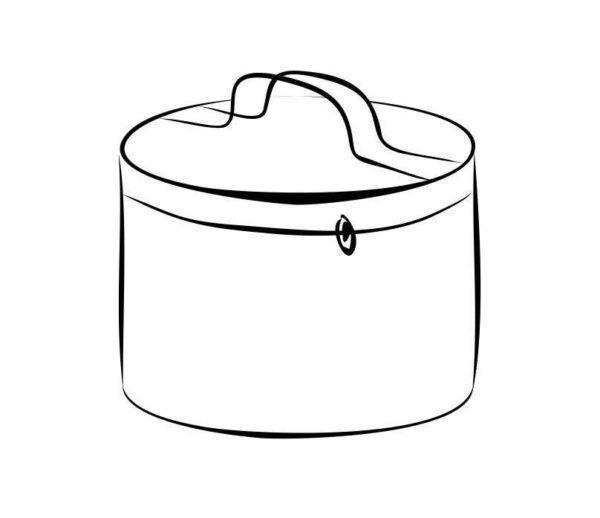 Чехол для туристической посуды круглый