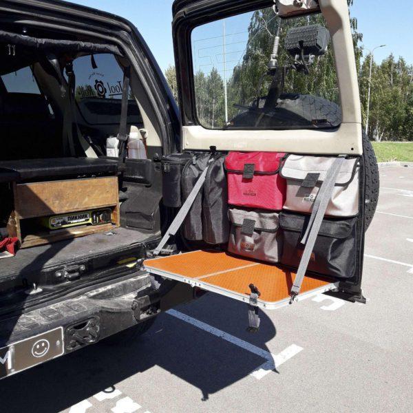 MOLLEPALS панель на заднюю большую дверь Nissan Patrol Y61 Столик на заднюю дверь