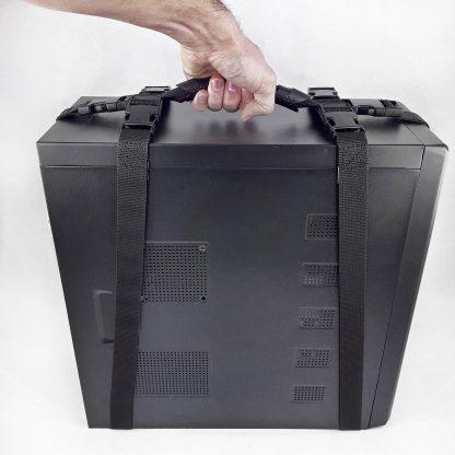 Ручка для переноски коробок и системного блока усиленная на 3 ремня