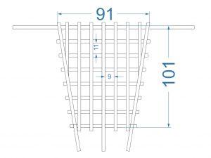 Сетка на потолок багажника Pajero Sport 1