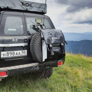 Сумка на запасное колесо черный с серым